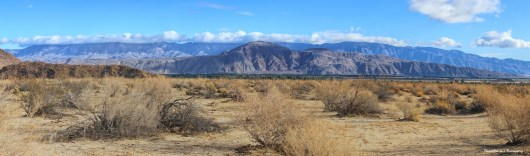 Daytime view from the RV camping area of Anza Borrego