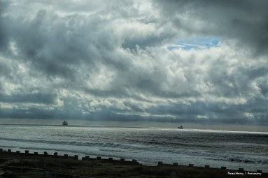 From the toll road, looking stormy at sea
