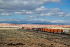 The iconic red cliffs and trains of the SW