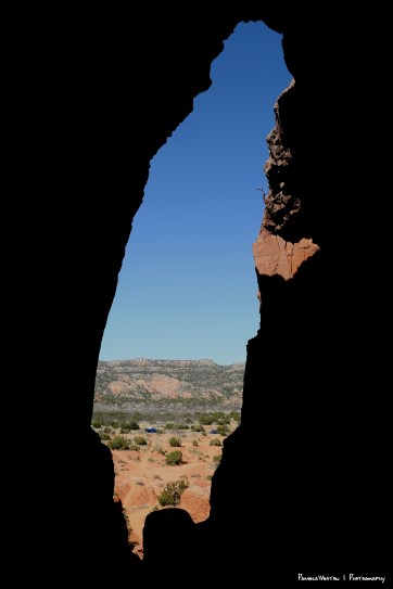 The view out of the cave