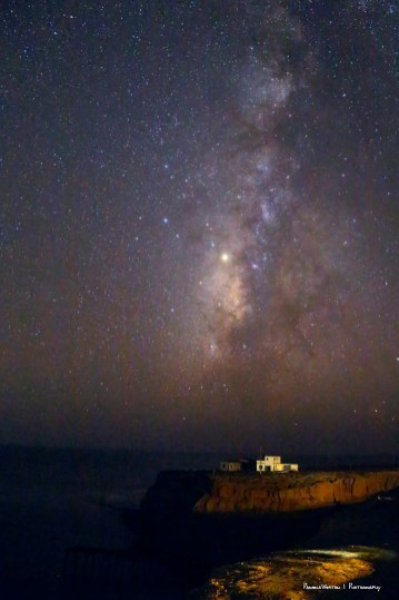 Milky Way setting into the Pacific Ocean-Camalu Baja