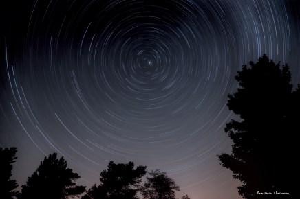 Star trails at Starfest
