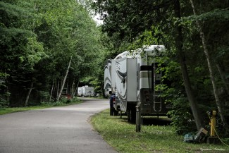 Rv site at Pancake Bay Provincial Park