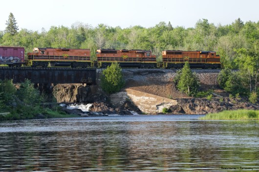 Falls and train