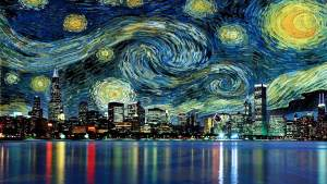 Starry night, an urban version: how stars can guide us in life.