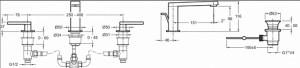 Смеситель для раковины E73060-4-CP COMPOSED Jacob Delafon