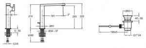 Cмеситель для раковины COMPOSED E73168-CP Jacob Delafon