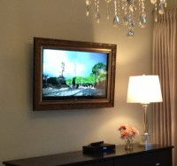 Framed TV, TV, Wall Mount TV, Custom Frame