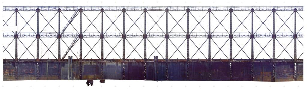 Historic Gasholder 3D Documentation Unfolded Elevation RGB