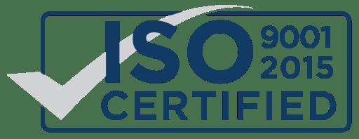 ISO 9001:2015 rectangular logo