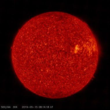 De Zon gefotografeerd in de H-Alpha lichtfrequentie .