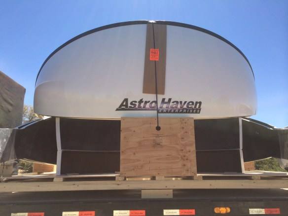 Astrohaven dome finally arrives.