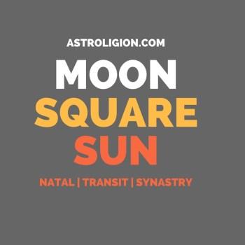 MOON SQUARE SUN ASPECT