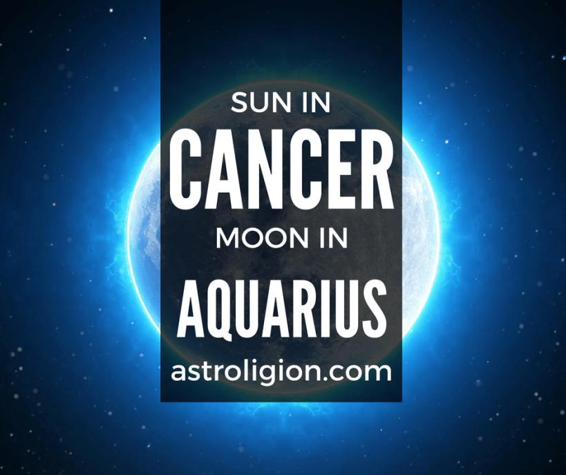 Cancer Sun Aquarius Moon Personality