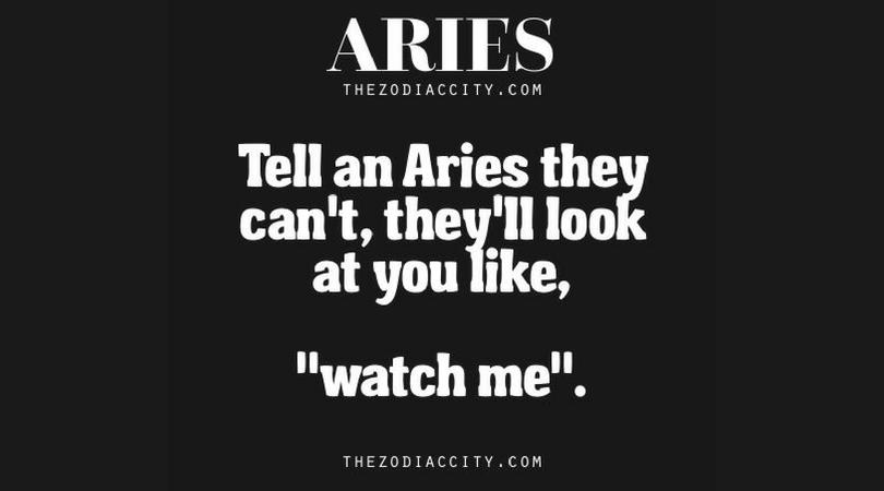 Aries Positive Traits