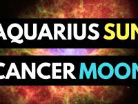 aquarius sun cancer moon personality