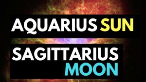aquarius sun sagittarius moon personality