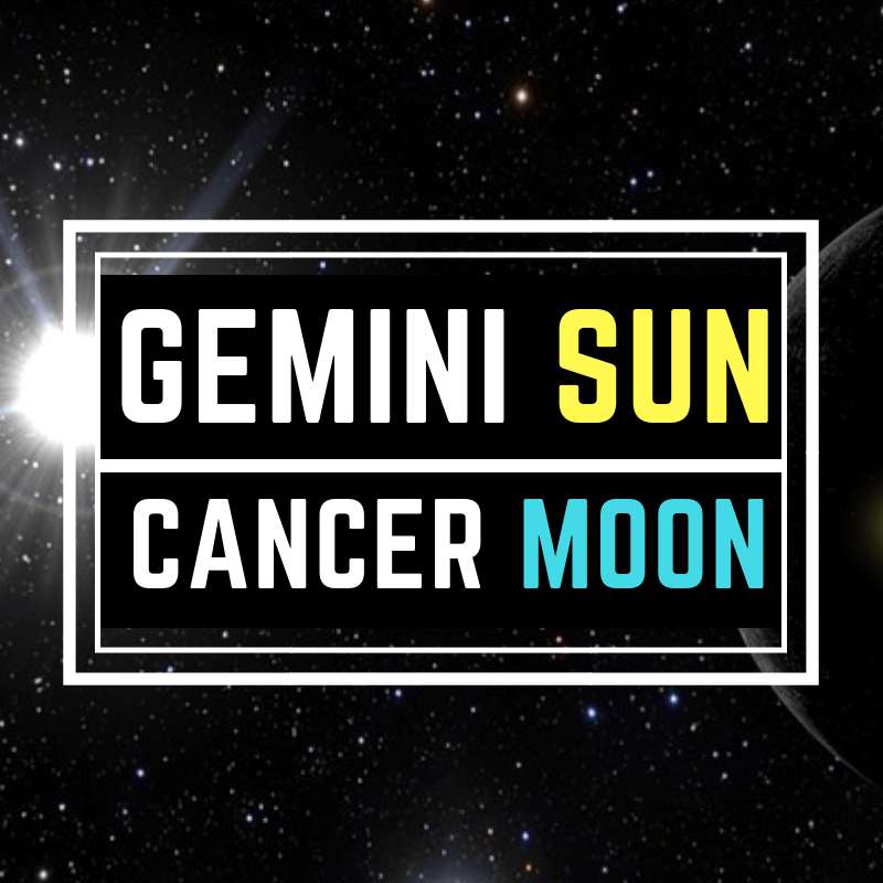 Gemini Sun Cancer Moon personality