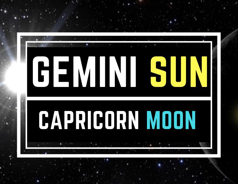 GEMINI SUN CAPRICORN MOON PERSONALITY