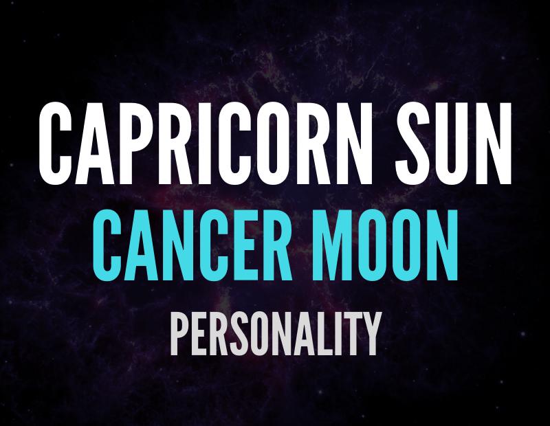 sun in capricorn moon in cancer