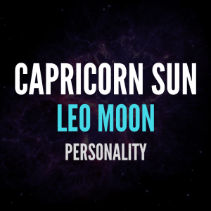 sun in capricorn moon in leo