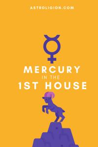 mercury in 1st house pinterest