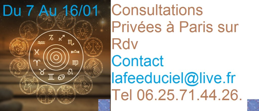 Vos consultations privées à Paris en Janvier 2016