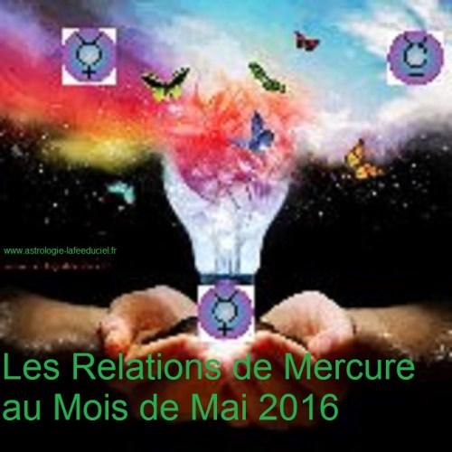 Les relations de Mercure au Mois de Mai 2016