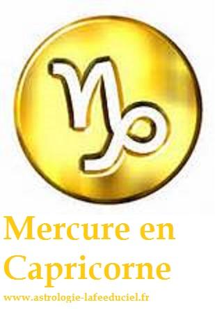 Mercure en Capricorne