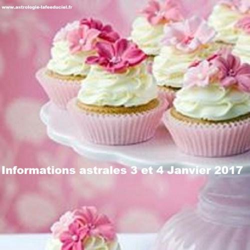 Informations astrales : Mémo du 3 au 29 Janvier 2017