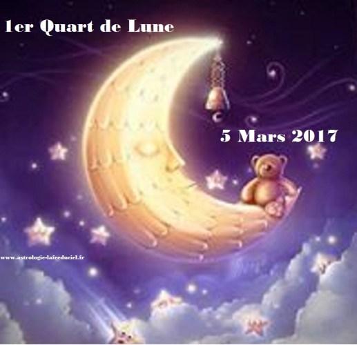 1er Quart de Lune du 5 Mars 2017