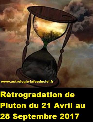 Rétrogradation de Pluton du 21 Avril au 28 Septembre 2017