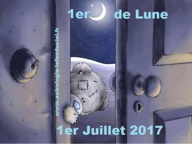 1er Quart de Lune du 1er Juillet 2017 ( en mode écriture )