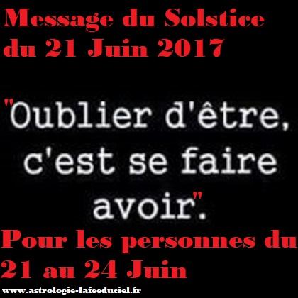 Message du Solstice d'été pour les personnes nées du 21 au 24 Juin
