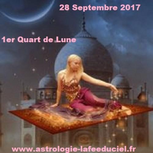 Premier Quart de Lune du 28 Septembre 2017 - en mode écriture-