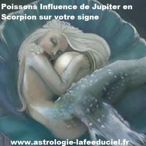Poissons Influence de Jupiter en Scorpion sur votre signe - en mode écriture-