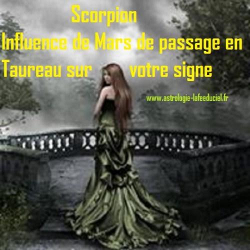 Scorpion Influence du passage de Mars en Taureau sur votre signe