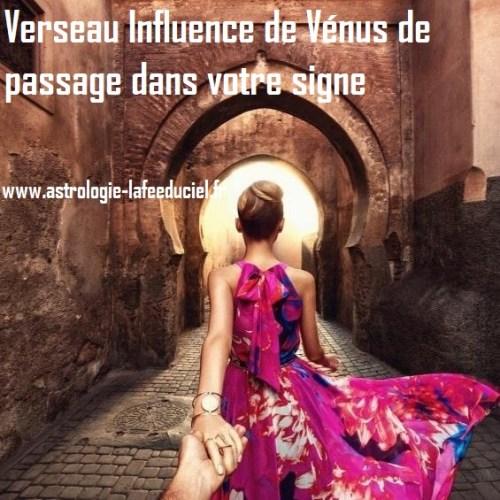 Verseau Influence de Vénus de passage dans votre signe