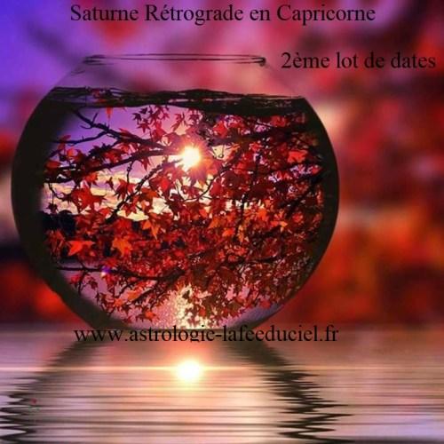 Saturne Rétrograde en Capricorne jusqu'au 18 Septembre 2019 Son influence suivant votre date de naissance -2ème Lot de dates-