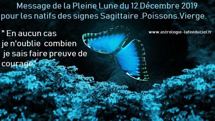 Message de la Pleine Lune du 12 Décembre 2019 pour les natifs des signes du Sagittaire .Poissons.Vierge