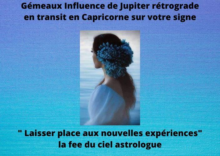 Gémeaux Influence de Jupiter rétrograde en transit en Capricorne sur votre signe