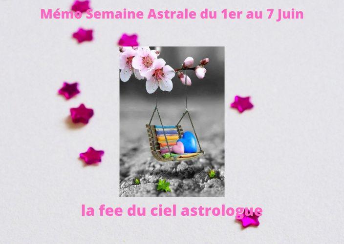 Mémo Semaine Astrale du 1er au 7 Juin 2020