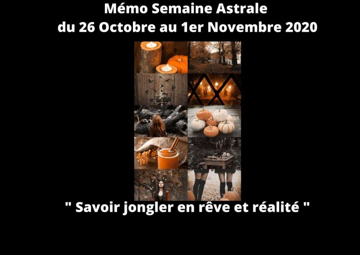Mémo Semaine du 26 Octobre au 1er Novembre 2020