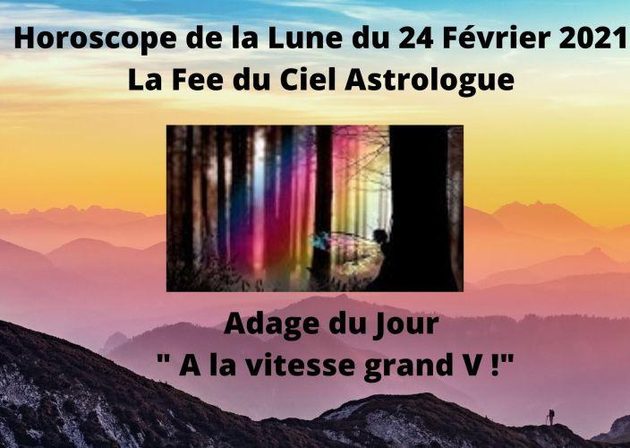 Horoscope de la Lune du 24 Février 2021