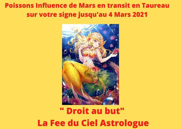 Poissons Influence de Mars transit en Taureau sur votre signe jusqu'au 4 Mars 2021