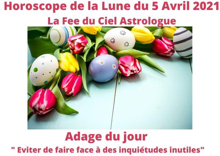 Horoscope de la Lune du 5 Avril 2021