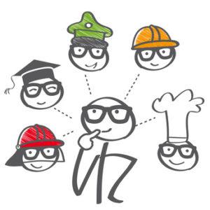 Berufswahl, Ausbildung, Berufsberatung, Job, bewerben, Zukunft, entscheiden, Entscheidung, Studium, Doktorhut, Diplom, Universität, Student, Auszubildener, Auzbi, Lehrling, Berufsschule, abi, Handwerk, informieren, Arbeitsagentur, Bildung, Kopfbedeckung, überlegen, Beratung, trueffelpix, Möglichkeiten, nachdenken, Abiturient, lebensweg, Bildungsweg, Schulabschluss, Strichmännchen