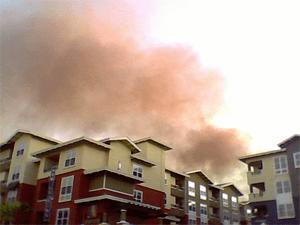 Smoke from San Bruno Explosion