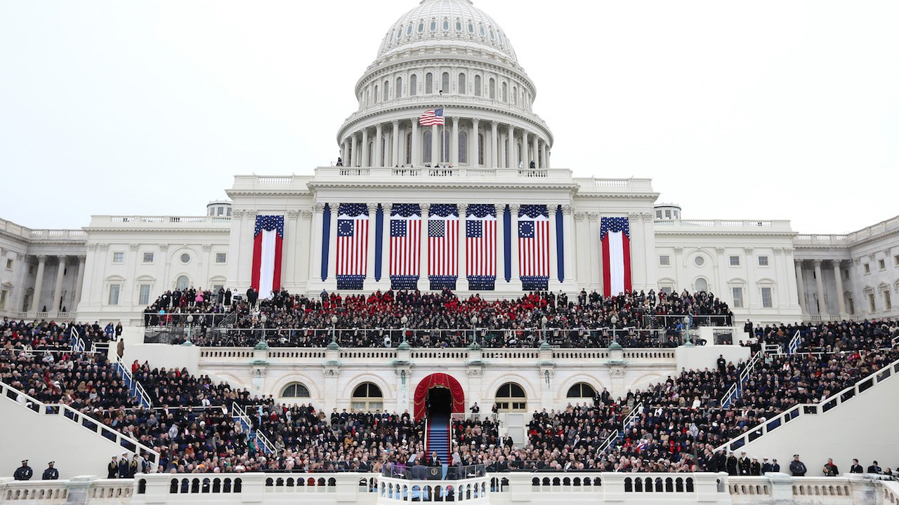 Image result for images of inauguration of Trump in 2017