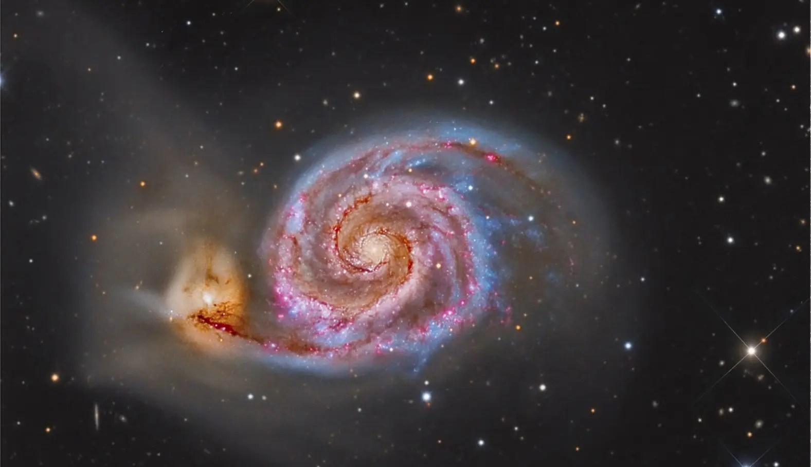 Whirlpool Galaxy Planets